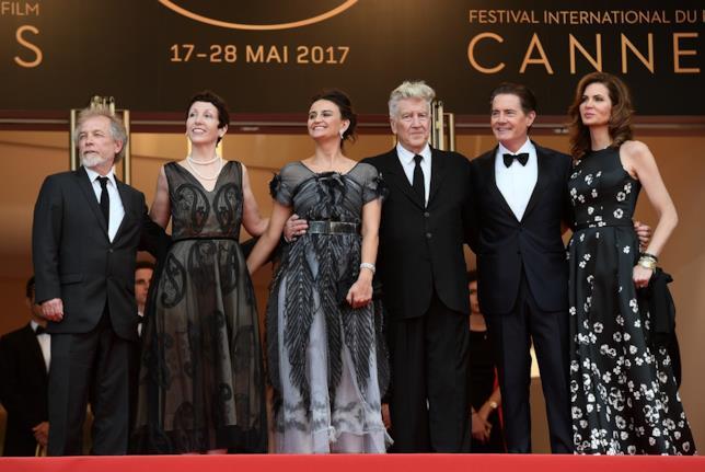 David Lynch ed alcuni membri del cast alla presentazione di Cannes 2017