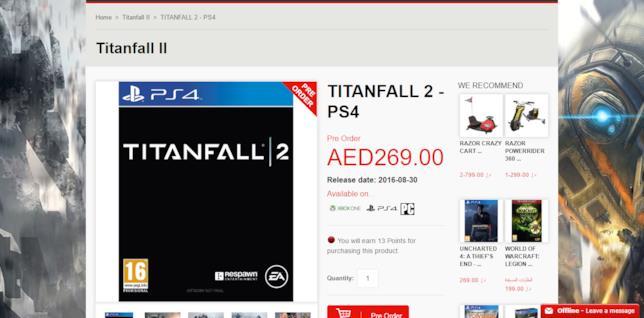 Titanfall 2, leak per la data d'uscita