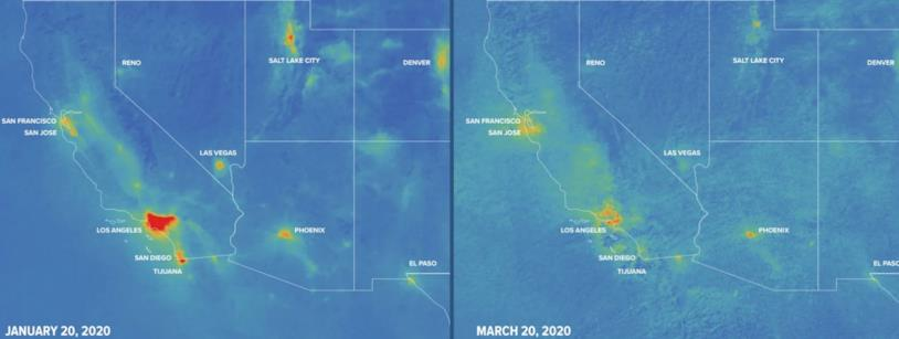Mappa interattiva inquinamento nello stato della California