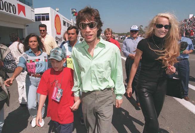 Mick Jagger con Jerry Hall quando erano sposati