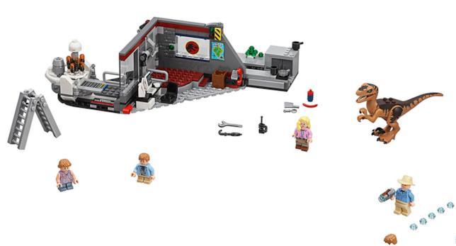 Dettagli del set LEGO Inseguimento del Velociraptor a Jurassic Park