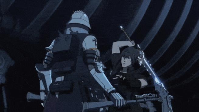 Noctis combatte in una GIF dell'anime di FFXV