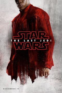Finn nel character poster di Star Wars - Gli ultimi Jedi