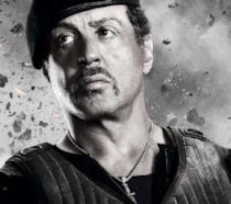 Sylvester Stallone nel poster de I mercenari 2