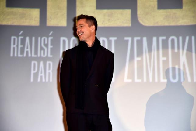 Immagine di Brad Pitt alla presentazione del film Allied