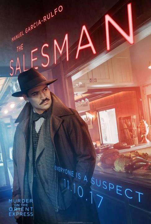 Il poster del Venditore di Assassinio sull'Orient Express
