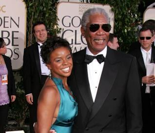 Morgan Freeman e la nipote E'Dena sul red carpet