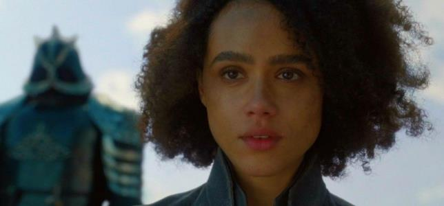 Nathalie Emmanuel nell'ultima scena di Missandei in Game of Thrones 8x04