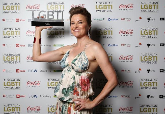 La bella Lucy Lawless agli Australian LGBTI Awards del 2017