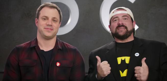 Geoff Johns assieme a Kevin Smith