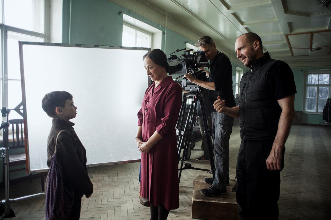 Il regista durante le riprese del film