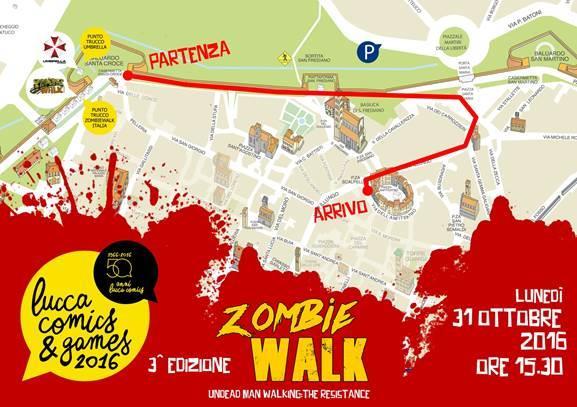 La Zombie Walk è uno degli appuntamenti fissi di Lucca Comics