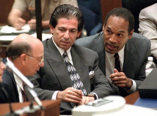 Una scena del vero processo a O.J. Simpson