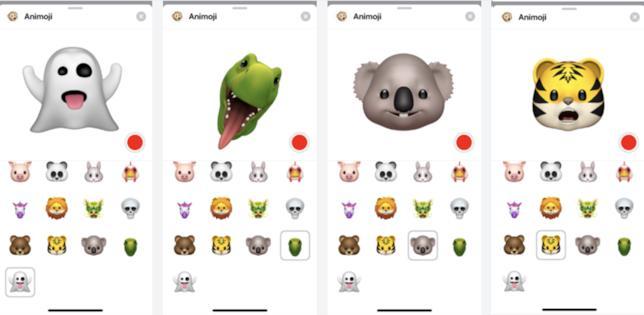 la tigre, il koala, il T-rex e il panda sono le nuove Animoji presenti in IOS 12