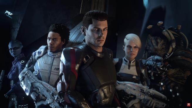 L'equipaggio di Mass Effect: Andromeda pronto ad entrare in azione