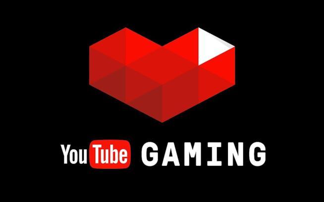 Primo piano del logo di YouTube Gaming