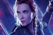 Un primo piano di Black Widow nel poster di Avengers: Endgame