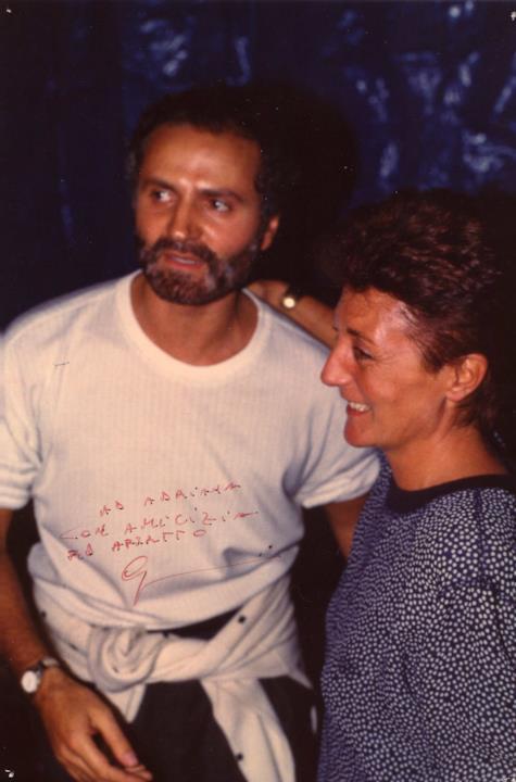 Adriana Mulassano insieme a Gianni Versace