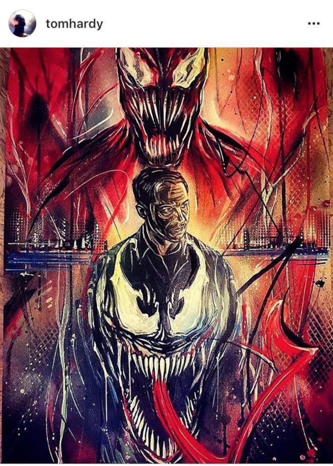 Venom, Eddie Brock e Carnage nel post Instagram di Tom Hardy