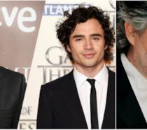 Un collage tra Toby Sebastian, Antonio Banderas e Andrea Bocelli