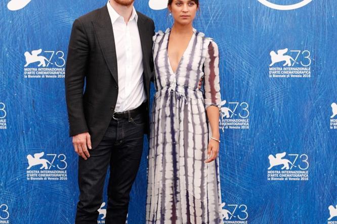 Alicia Vikander e Michael Fassbender alla conferenza stampa di Venezia 73