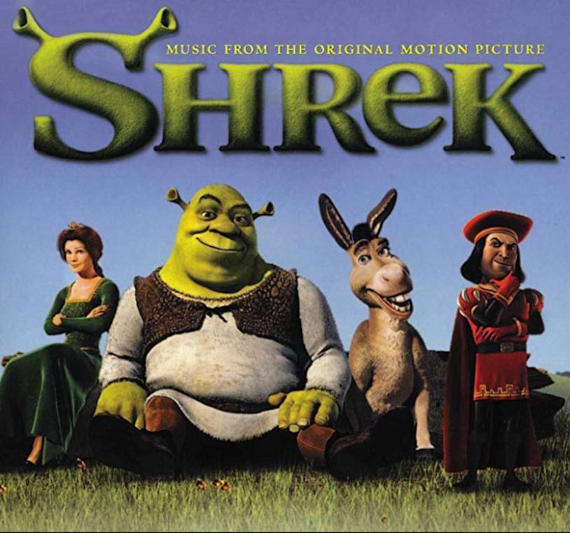 La copertina della colonna sonora Shrek