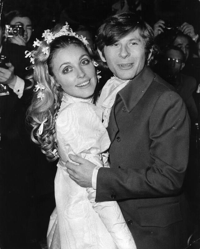 Sharon Tate e Roman Polanski nel giorno del matrimonio