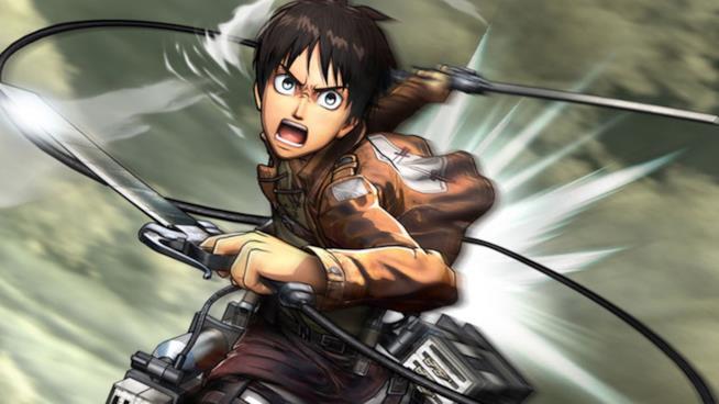 Il protagonista di Attack on Titan: Wings of Freedom pronto a sferrare il suo attacco