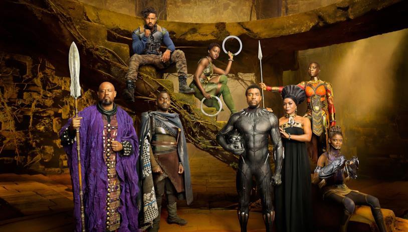 Il cast di Black Panther riunito sul set