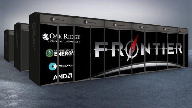 Concept del supercomputer Frontier