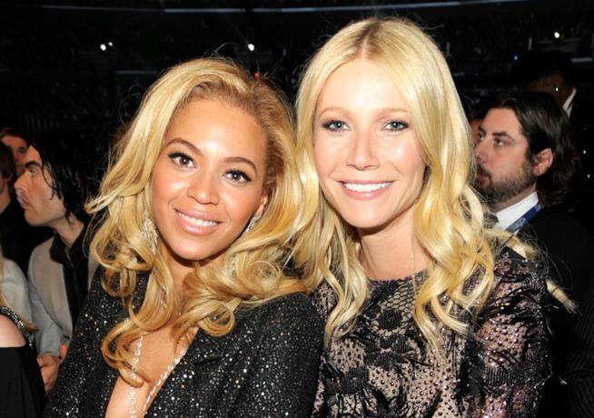 Primo piano di Gwyneth Paltrow e Beyoncé