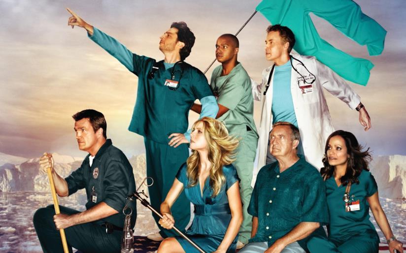 Una foto promozionale di Scrubs