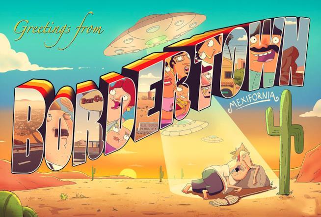 Cartolina di Bordertown