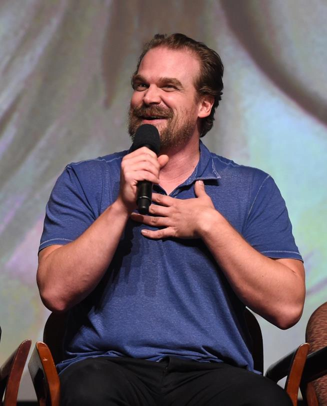 David Harbour alla presentazione di Stranger Things 2