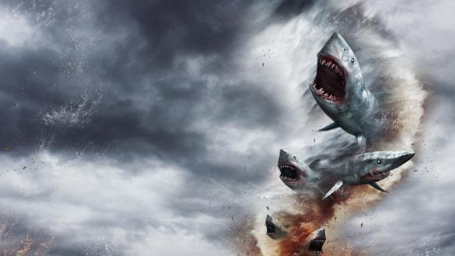 Un'immagine del film Sharknado