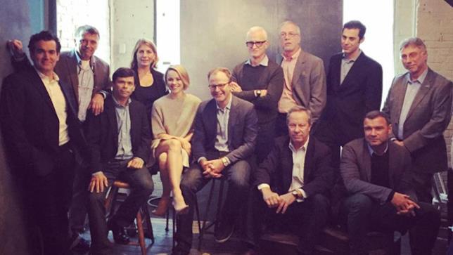 Il cast e i giornalisti del film Il Caso Spotlight