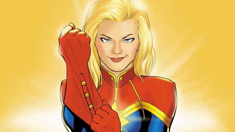 L'eroina interpretata da Brie Larson raffigurata nei fumetti Marvel Comics