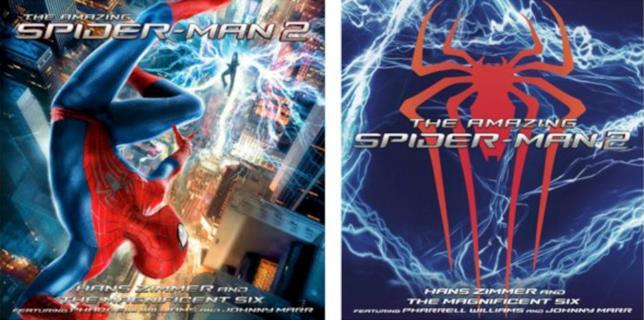 Cover e retro colonna sonora The Amazing Spider-Man 2
