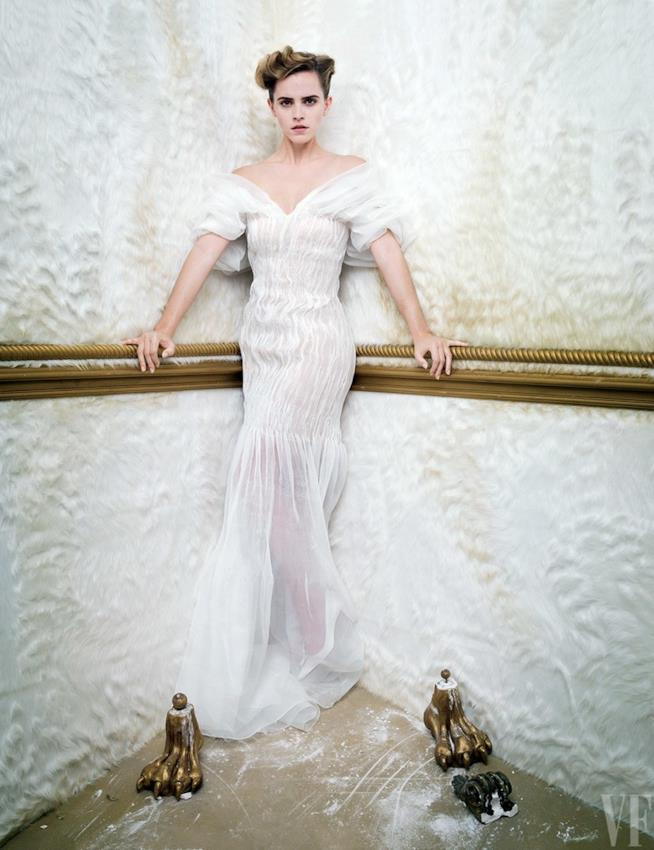 Emma Watson nello shooting di Vanity Fair