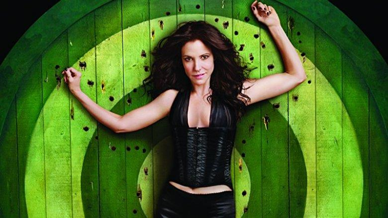 Mary-Louise Parker in un poster promozionale della serie Weeds