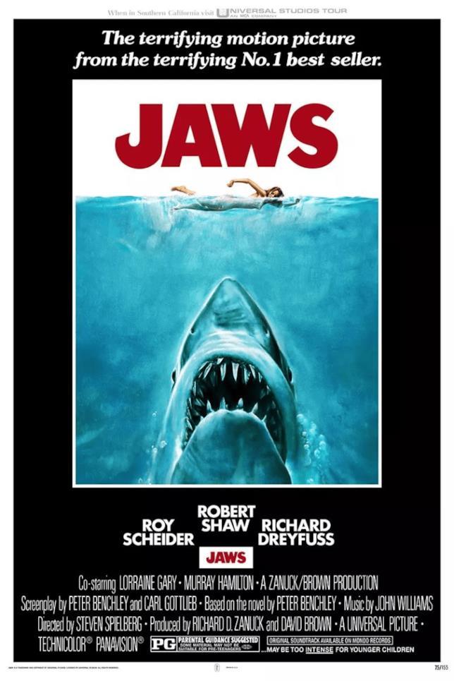 La locandina de Lo squalo è una delle più iconiche del cinema