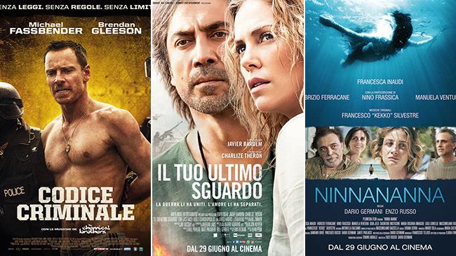 I poster dei film: Codice Criminale, Il Tuo Ultimo Sguardo, Ninna Nanna