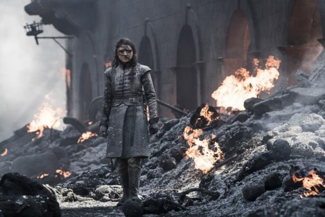 Maisie Williams nella sequenza finale di Game of Thrones 8x05