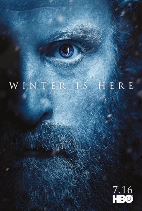 GOT 7: Tormund con il Re della Notte visibile nell'occhio