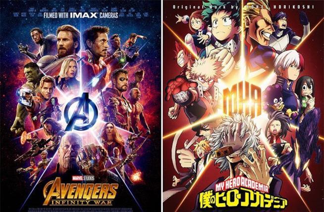 Un crossover tra Avengers e My Hero Academia? Perché no!