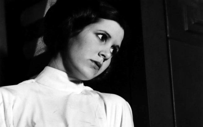 Carrie Fisher in una scena di Star Wars