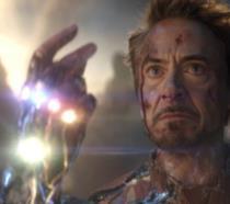 Un primo piano di Tony Stark in Avengers: Endgame