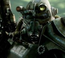 Il concept art simbolo di Fallout 3 che ritrae un'armatura atomica
