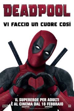 Poster di Deadpool col Mercenario che fa il cuore