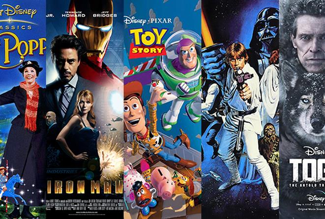 I poster di Mary Poppins, Iron Man, Toy Story, Guerre Stellari IV, Togo